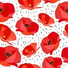 Red poppies by Lusy Rozumna