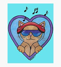 Funky Music Kitty Photographic Print