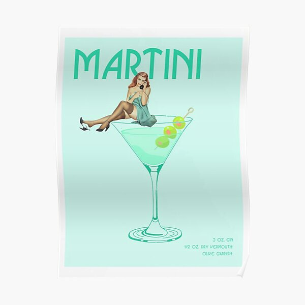 The Martini Cocktail Poster