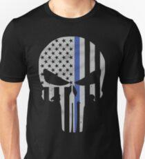 Military Skull [Tactical Flag] Slim Fit T-Shirt