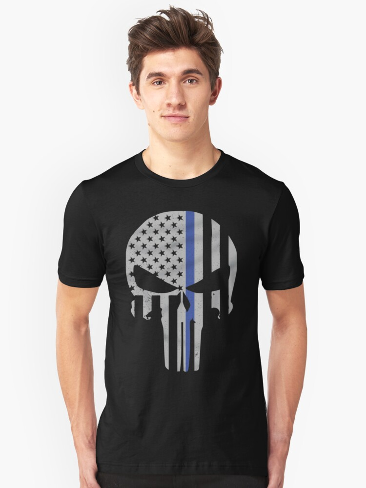 Military Skull [Tactical Flag] Unisex T-Shirt Front