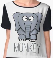 Funny Monkey Elephant Design Chiffon Top