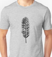 Palm leaves, Nature lover, Linocut pattern T-Shirt