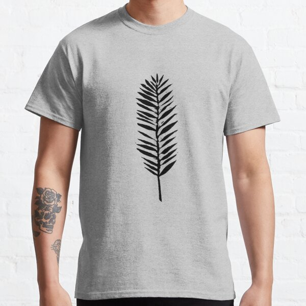 Palm leaves, Nature lover, Linocut pattern Classic T-Shirt