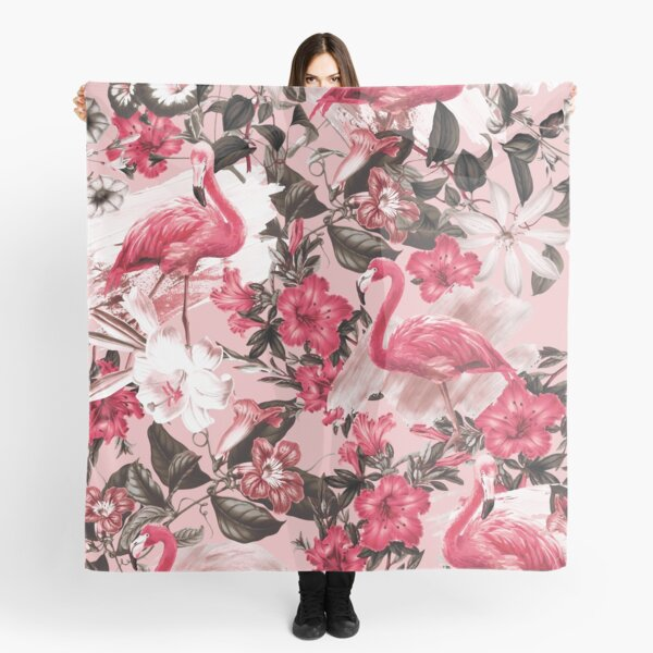 Flamingo and Floral III Scarf