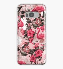 Flamingo and Floral III Samsung Galaxy Case/Skin