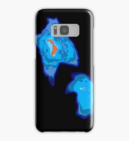 Lord Howe Island bathymetry Samsung Galaxy Case/Skin