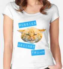 Pussies Against Trump 2.0 Women's Fitted Scoop T-Shirt