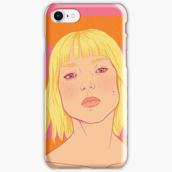 Fashion; Blonde Girl & Stripes iPhone Snap Case