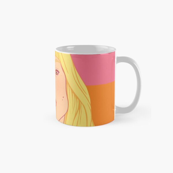 Fashion; Blonde Girl & Stripes Classic Mug