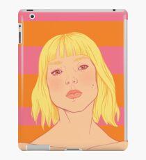 Fashion; Blonde Girl & Stripes iPad Case/Skin