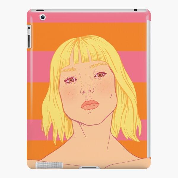 Fashion; Blonde Girl & Stripes iPad Snap Case