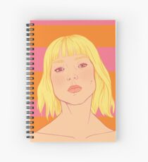 Fashion; Blonde Girl & Stripes Spiral Notebook