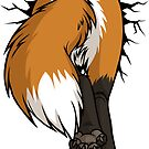Sticker - STUCK Red Fox BACK by tanidareal