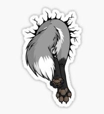 Sticker - STUCK Grey Fox BACK Sticker