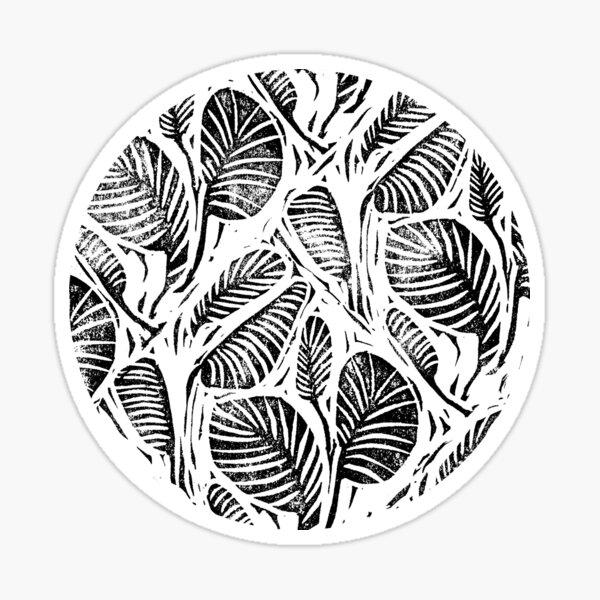 NEST Snake Print Vinyl Sticker Linocut Art