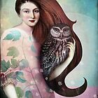 She and her Owl by Catrin Welz-Stein