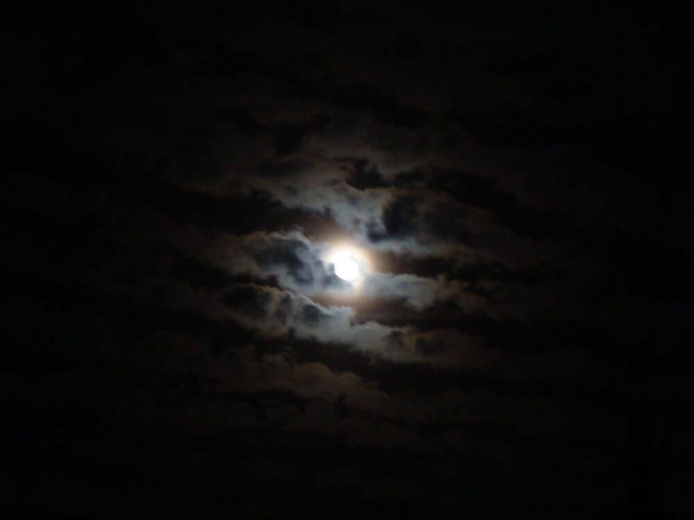 Moon Banded by Clouds by Erin Kelley