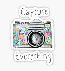 """Capture Everything"" Floral Camera Sticker"