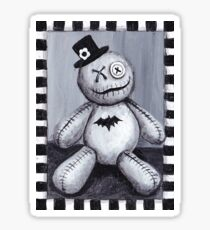 Voodoo Doll in Black & White Sticker