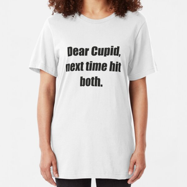 Mad Over Shirts Dear Cupid Next Time Hit Both Unisex Premium Tank Top
