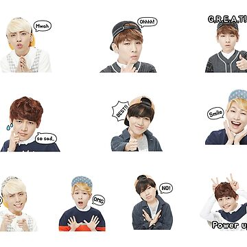 SHINee LINE Stickers by Ranite