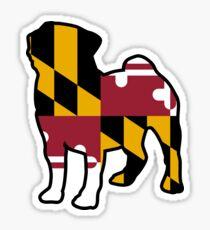 Maryland Flag Pug Sticker