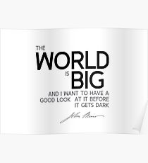 the world is big - john muir Poster