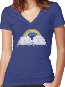 Gay Clouds Women's Fitted V-Neck T-Shirt