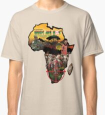 Hunt Me Not anti-poaching Art on Africa Map Classic T-Shirt