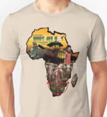 Hunt Me Not anti-poaching comic cover on Africa Map Unisex T-Shirt