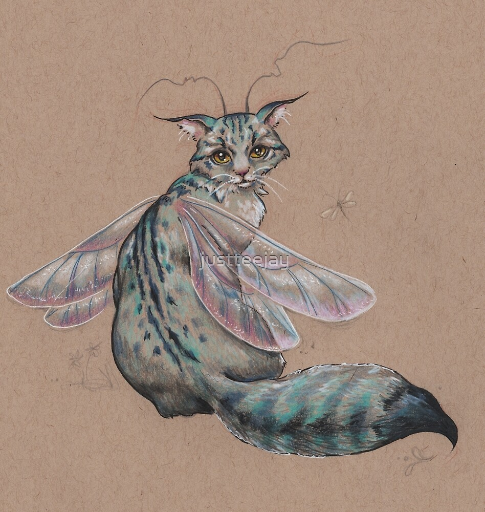 Dragonfly Kitty  by justteejay