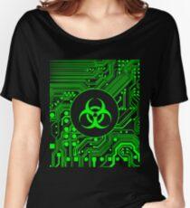 Green Biohazard (Cybergoth) Women's Relaxed Fit T-Shirt