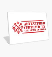 Certified By The Guild of Hunters HORIZONTAL RED Laptop Skin