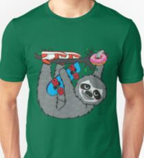 Skater Sloth loves donut T-Shirt