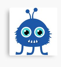 Cute and funny cartoon monster Canvas Print