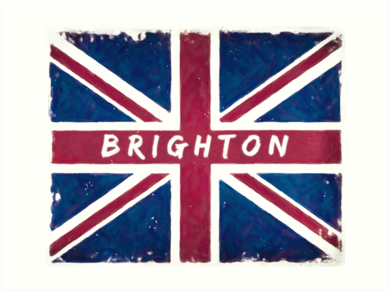 Brighton Vintage Union Jack British Flag by Mark Tisdale