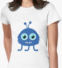 Cute and funny cartoon monster Womens Fitted T-Shirt