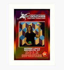 George Leutz Q*Bert Rookie Card Art Print