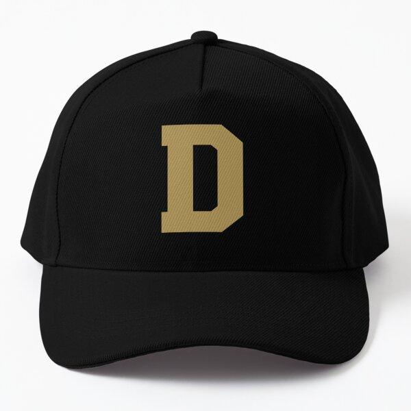 Alphabet, Gold D, Sports letter D Baseball Cap