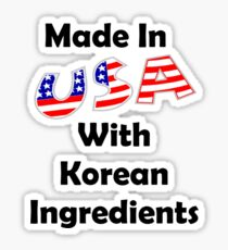 Made In USA With Korean Ingredients Sticker