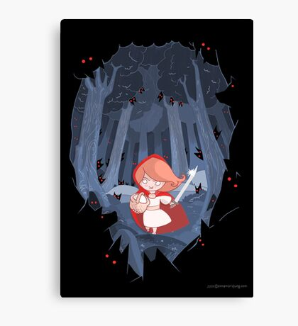 Little Red Fighting Hood Canvas Print