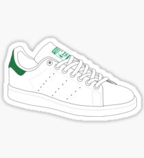 stan smith  illustration Green pair. Sticker