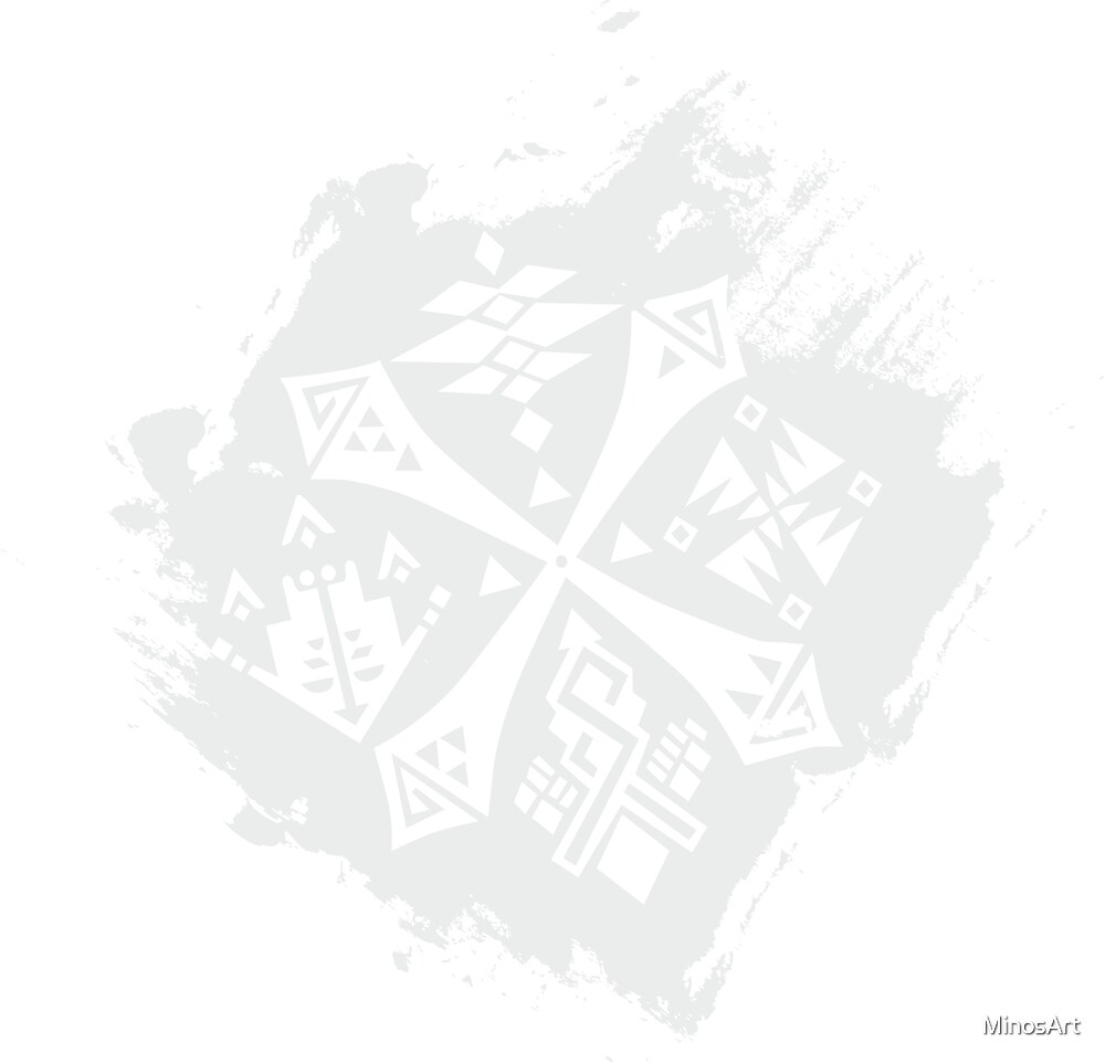 Guild Hunters Logo Splat White by MinosArt