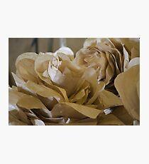 handmade paper flowers Photographic Print