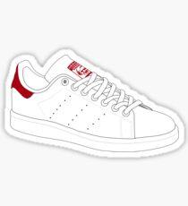 stan smith  illustration Red pair. Sticker