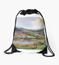 """""""Where the Snow Never Leaves"""" The Lake District, Cumbria Drawstring Bag"""