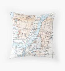 Vintage Map of Calcutta India (1914) Throw Pillow