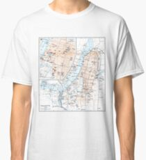Vintage Map of Calcutta India (1914) Classic T-Shirt