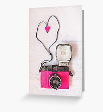 Camera love - Diana F+ lomography Greeting Card